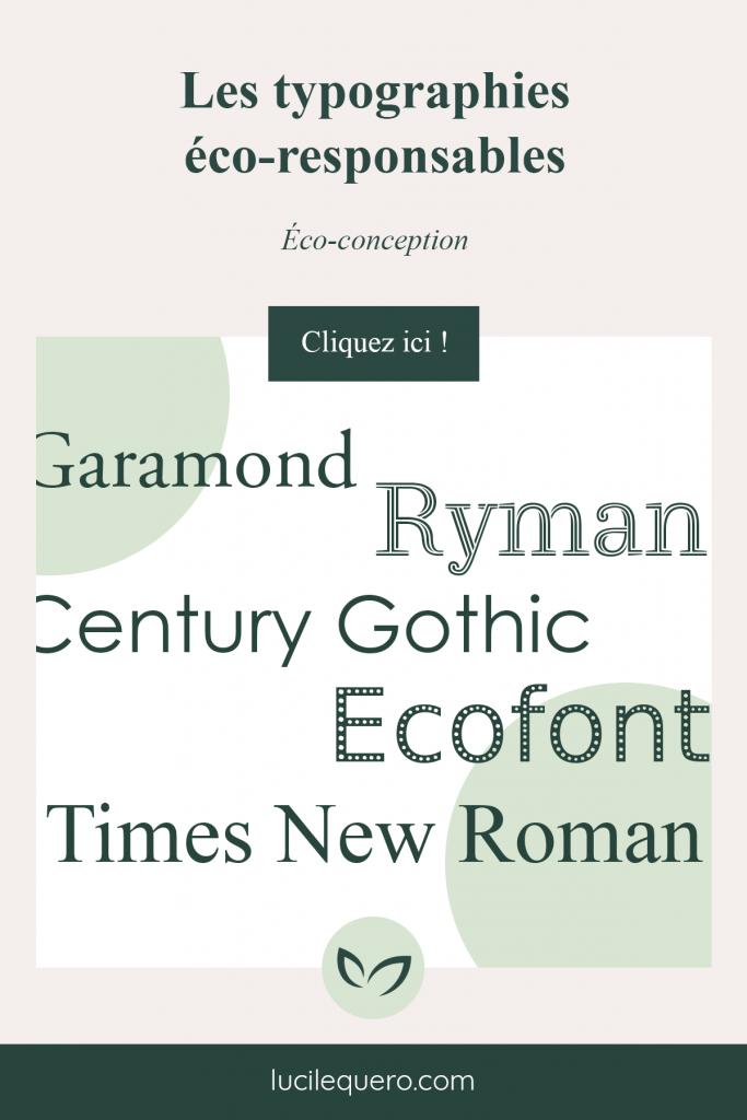 Les typographies éco-responsables